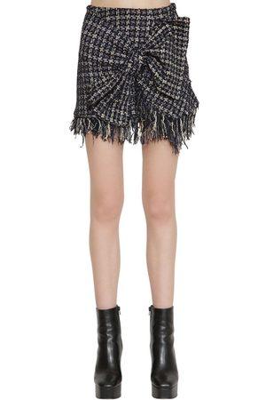 FAITH CONNEXION Techno Tweed Mini Skirt W/ Bow