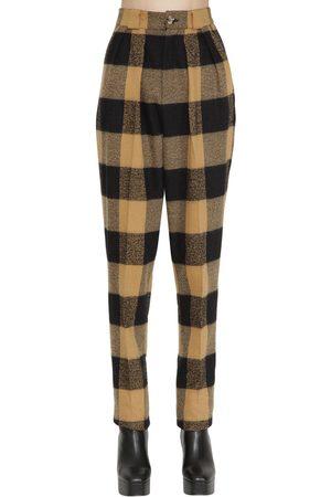 FAITH CONNEXION Women Pants - High Waist Wool & Cotton Pants