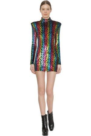 FAITH CONNEXION Women Party Dresses - Structured Stretch Velvet Mini Dress