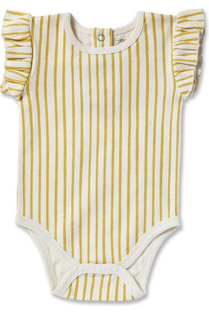 Pehr Infant Girl's Stripes Away Ruffle Bodysuit