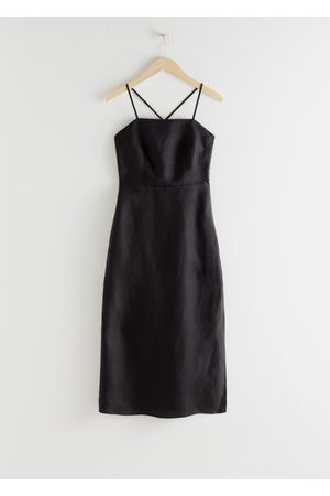 & OTHER STORIES Women Midi Dresses - Criss Cross Linen Blend Midi Dress