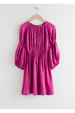 & OTHER STORIES Satin Puff Sleeve Mini Dress