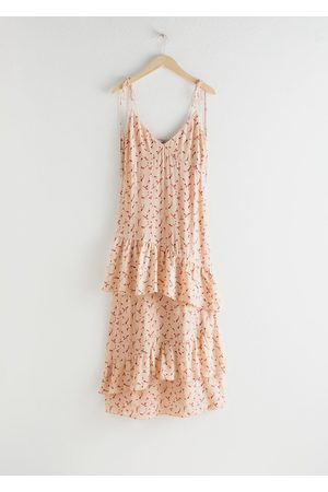 & OTHER STORIES Ruffled Shoulder Tie Maxi Dress