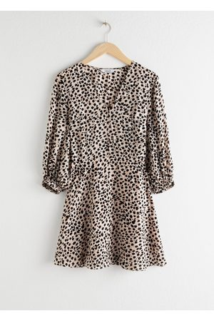& OTHER STORIES Leopard Lyocell Blend Mini Dress