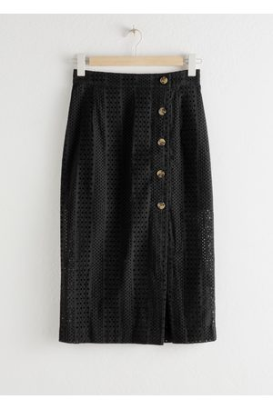 & OTHER STORIES Cotton Dobby Pencil Midi Skirt