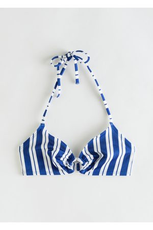 & OTHER STORIES Striped Halter Bikini Top