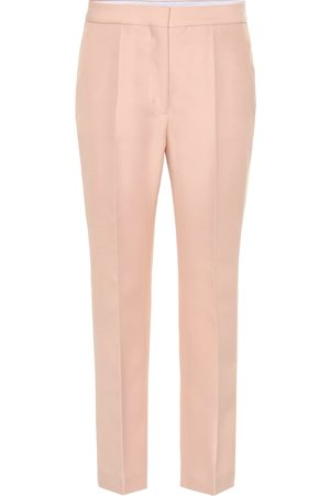 Stella McCartney High-rise wool-blend straight pants
