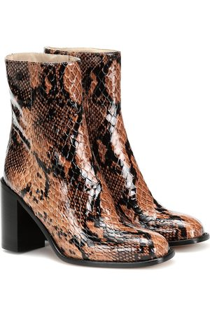 MARYAM NASSIR ZADEH Mars snake-effect leather ankle boots