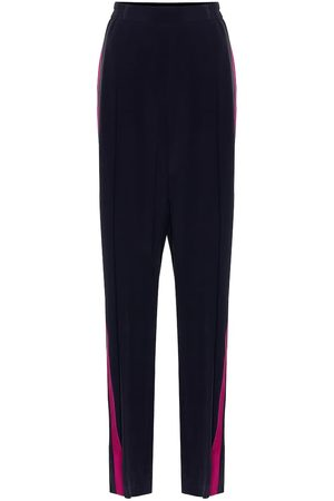 Stella McCartney High-rise silk crêpe wide-leg pants