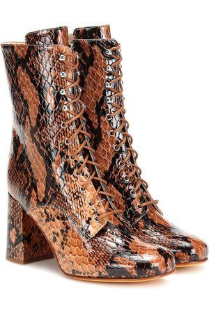 MARYAM NASSIR ZADEH Emmanuelle snake-effect ankle boots
