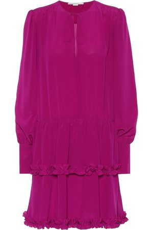 Stella McCartney Long-sleeved silk minidress