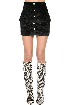 GIUSEPPE DI MORABITO Women Mini Skirts - Faux Astrakhan Mini Skirt