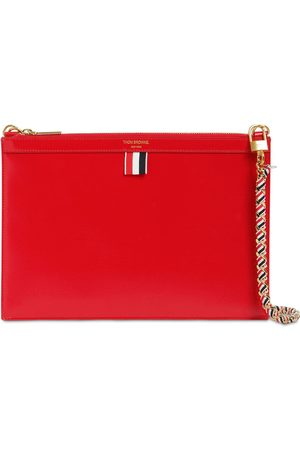 Thom Browne Small Leather Zip Clutch