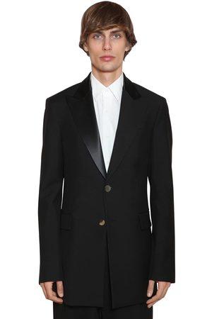 Loewe Men Blazers - 2bt Wool Tuxedo Jacket W/ Satin