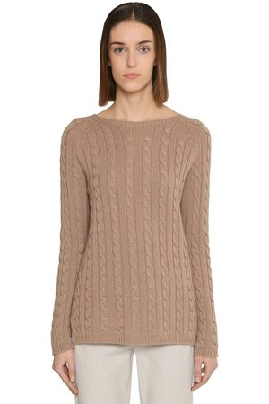 Max Mara Women Sweaters - Intrecciato Cashmere Knit Sweater