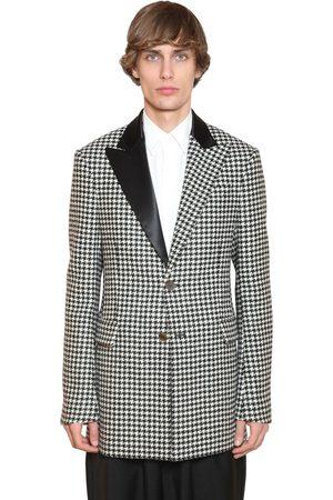 Loewe Men Blazers - 2bt Wool Houndstooth Tuxedo Jacket