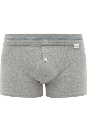 Schiesser Karl Heinz Stretch-cotton Boxer Briefs - Mens - Grey