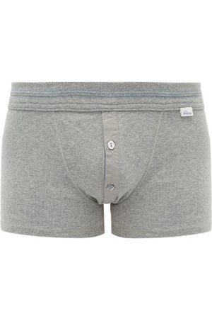 Schiesser Men Boxer Shorts - Karl Heinz Stretch-cotton Boxer Briefs - Mens - Grey