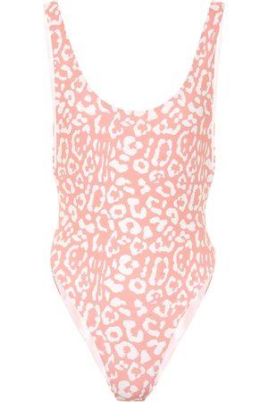 Reina Olga Bowie leopard-print swimsuit