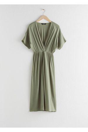 & OTHER STORIES Women Midi Dresses - Twist Knot Midi Dress