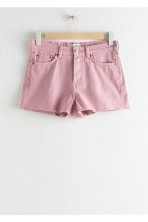 & OTHER STORIES Raw Hem Denim Shorts