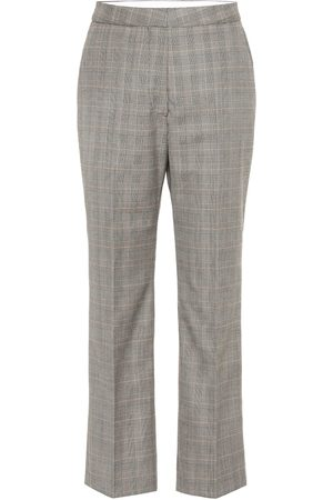 Stella McCartney High-rise checked wool pants