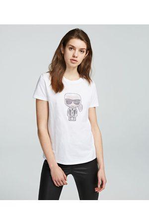 Karl Lagerfeld K/Ikonik Rhinestone T-Shirt