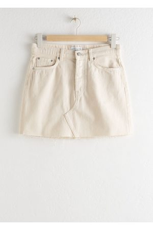 & OTHER STORIES Raw Edge Denim Mini Skirt