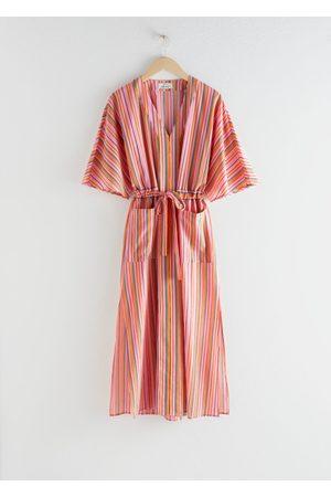 & OTHER STORIES Striped Cotton Midi Dress