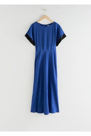 & OTHER STORIES Short Sleeve Printed Maxi Dress