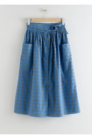 & OTHER STORIES A-Line Cotton Midi Skirt