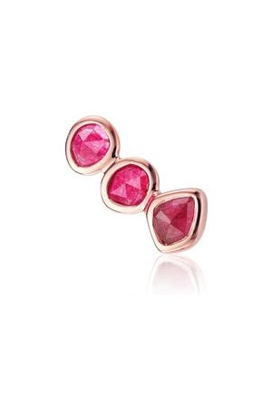 Monica Vinader Rose Gold Siren Climber Single Earring Pink Quartz