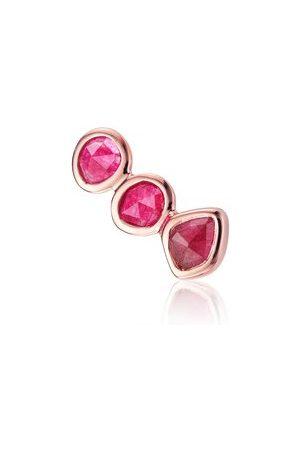 Monica Vinader Women Studs - Rose Gold Siren Climber Single Earring Pink Quartz