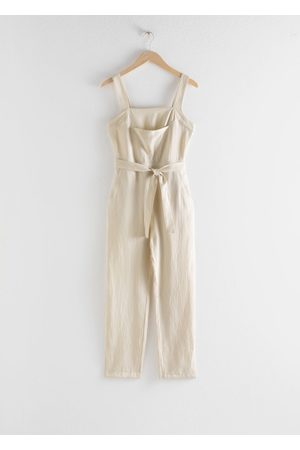 & OTHER STORIES Lyocell Linen Blend Jumpsuit