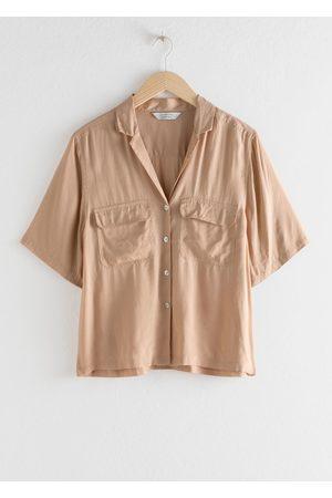 & OTHER STORIES Satin Workwear Button Up Shirt