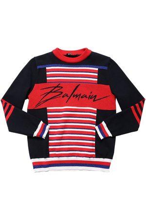 Balmain Cotton Blend Knit Sweater