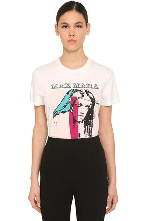 Max Mara Logo Printed Cotton Jersey T-shirt