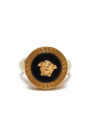 VERSACE Men Rings - Medusa-logo Signet Ring - Mens