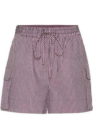 Ganni Striped seersucker shorts