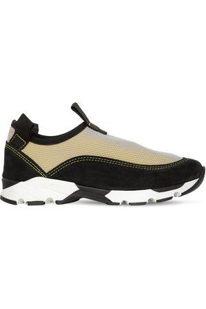 Marni Suede & Mesh Slip-on Sneakers