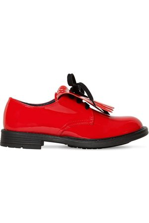 Marni Patent Leather Lace-up Shoes W/ Fringe