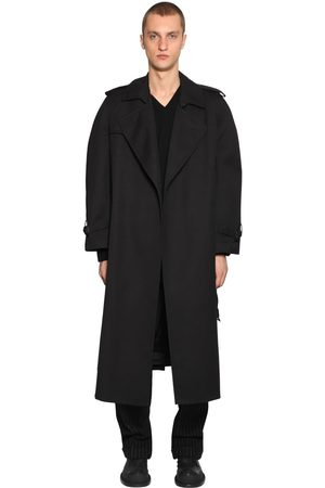 Maison Margiela Oversized Cotton Gabardine Trench Coat
