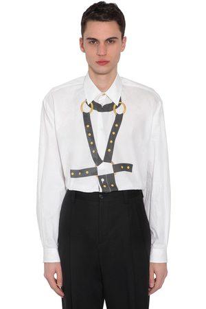 VERSACE Bondage Print Cotton Poplin Shirt