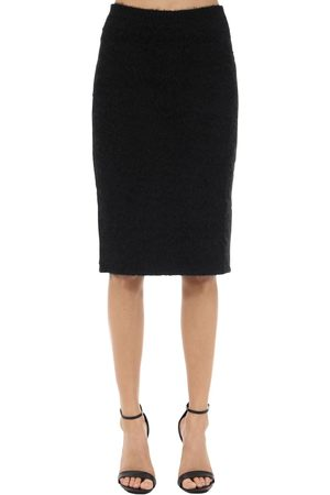 VERSACE Mohair Blend Knit Pencil Skirt