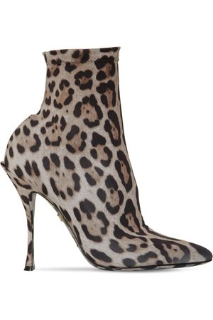 Dolce & Gabbana 90mm Stretch Jersey Ankle Boots