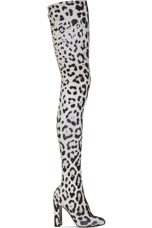 Dolce & Gabbana 105mm Print Stretch Jersey Boots