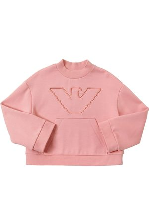 Emporio Armani Embroidered Cotton Blend Sweatshirt
