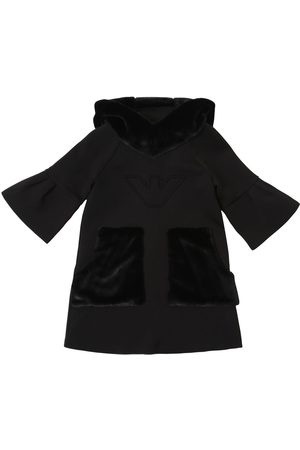 Emporio Armani Cotton Interlock W/ Faux Fur Dress