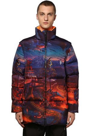 MARCELO BURLON Printed Fantasy Tech Zip Puffer Jacket