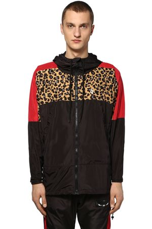MARCELO BURLON Hooded Zip-up Tech Windbreaker